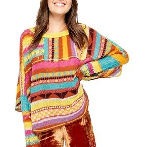 FREE PEOPLE December Skies Poncho